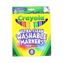 【美国】Crayola绘儿乐 8色可水洗粗头水彩笔儿童画笔 3岁以上