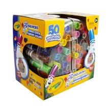 【美国】Crayola绘儿乐 50色可水洗伸缩水彩笔 马克笔城堡  3岁以上