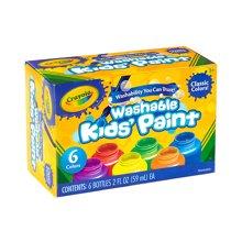 【美国】Crayola绘儿乐 6色幼儿可水洗颜料安全无毒 3岁以上