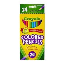【美国】Crayola绘儿乐 24色彩色铅笔长款安全无毒儿童画笔  3岁以上