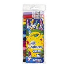 【美国】Crayola绘儿乐 16色可水洗短杆粗头儿童画笔 水彩笔套装 3岁以上