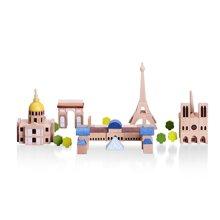 木玩世家爱木印象系列木制积木印象系列巴黎伦敦莫斯科仿真地标模型玩具礼物i200*