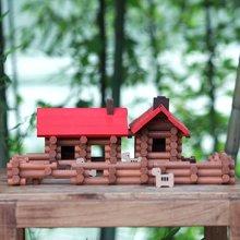 木玩世家爱木彩色系列 木制玩具设计师原创爱木儿童益智积木玩具1-2周岁礼物i3007