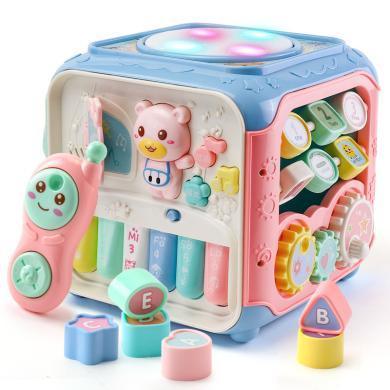 兒童益智玩具嬰幼兒玩具0-1歲半形狀配對積木寶寶早教益智六面體AYL611