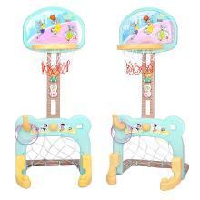 源乐堡 儿童可升降加固底座篮球架 可拆卸足球门二合一室内运动投篮玩具