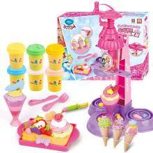迪士尼彩泥兒童橡皮泥冰雪蛋糕店甜品套裝小麥泥模工具3d打印機
