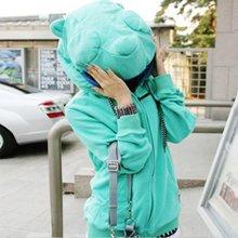 彥筠春秋新品衛衣韓版新款女裝韓國大頭熊貓耳朵開衫衛衣外套