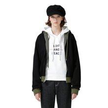 初语秋季新品牌连帽字母复古保暖两面穿棒球服双面短外套女chic8741402007