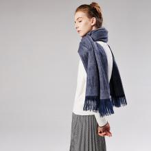 修允菲新款女士刺毛仿羊绒单色刺毛围巾褶皱自然流苏保暖纯色披肩18039