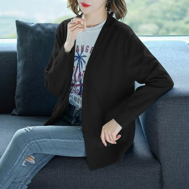 芃拉毛衣外套女韓版新款秋裝女裝寬松長袖上衣春秋季短款針織開衫SR-JDK1033