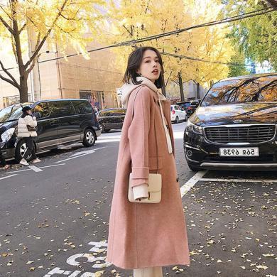 CAVS女裝外套呢子秋冬外套人字紋小個子毛呢大衣女式外套HDW089