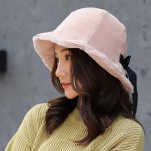 修允菲韩版秋冬新款加绒保暖帽子百搭盆帽卷边休闲帽可爱日系MZ175
