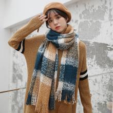 修允菲保暖围脖韩版冬季围巾女加厚流苏保暖仿羊绒针织围巾WJ1002