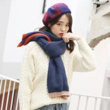 修允菲冬季仿羊绒围巾女韩保暖针织羊毛女士围巾披肩WJ2002
