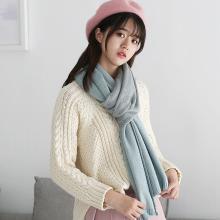 修允菲新款仿羊绒菠萝围巾女冬季韩版保暖针织围脖披肩礼品围巾WJ2052