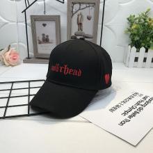 修允菲 帽子2019年夏季白色鸭舌帽个性碎心棒球遮阳太阳帽