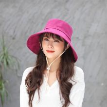 修允菲 遮阳帽子2019年夏天韩版户外出游大沿防晒帽紫外线折叠渔夫帽