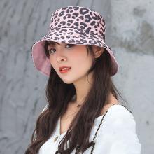 修允菲 女2019年夏季日系豹纹双面韩版百搭潮软妹防晒帽遮阳帽
