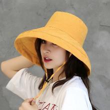 修允菲夏季户外骑车渔夫帽女士日系纯色太阳帽文艺旅游遮阳帽子MZ172
