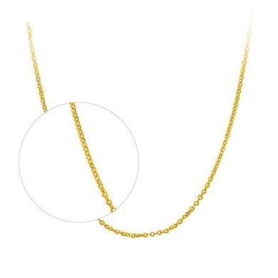 周大福珠寶首飾光身足金鏈子黃金十字項鏈 工費138元計價 F159797