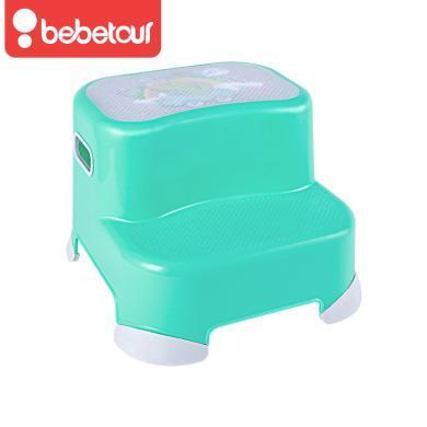 Bebetour兒童墊高腳凳(雙層)T110兒童洗手踩腳凳塑料防滑臺階座椅寶寶墊腳凳增高兒童椅18個以上寶寶使用