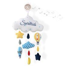 spiritkids婴儿床铃安抚挂件新生宝宝音乐旋转风铃魔幻热气球挂铃