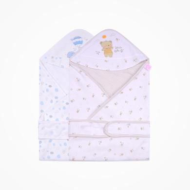 丑丑嬰幼 新生兒純棉四季包巾可愛卡通精美雙層包巾 85.85cm  CNA401X