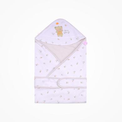 丑丑婴幼 新款新生儿纯棉四季包巾可爱卡通精美双层包巾 85.85cm  CNA401X