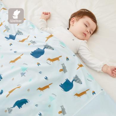 威爾貝魯幼兒園被子嬰兒被芯純棉秋冬兒童寶寶小棉被冬季午睡加厚/床品套件