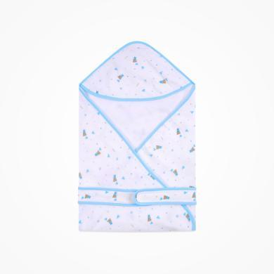 丑丑婴幼 新生儿多功能纱布包巾新款四季纯棉舒适包被 80cm*80cm CNA406D