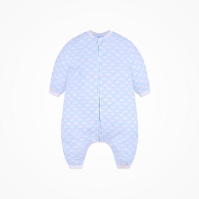 丑丑婴幼 男女宝宝分腿睡袋四季新款可爱云朵拉链分腿睡袋衣 CNA009X