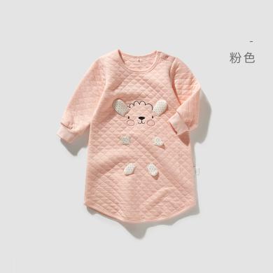 威爾貝魯 寶寶睡袍 男女兒童睡衣 純棉春秋款睡裙 嬰兒睡衣