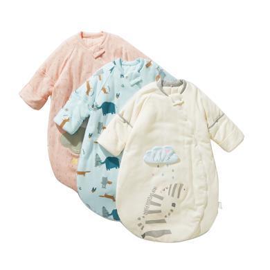 威爾貝魯新生嬰兒睡袋秋冬四季通用款純棉兒童寶寶睡袋空調房夏季防踢被子