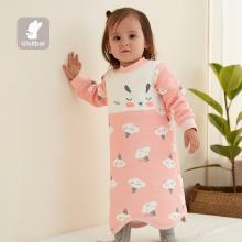 威尔贝鲁 婴儿睡袍夏季薄款睡裙男女童宝宝睡衣浴袍婴幼儿童纯棉