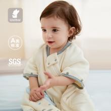 威尔贝鲁新生婴儿睡袋秋冬四季通用款纯棉儿童宝宝睡袋空调房夏季防踢被子