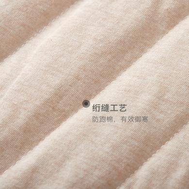 威爾貝魯嬰兒睡袋秋冬季加厚純棉棉毛布低領卡通夾棉睡袍
