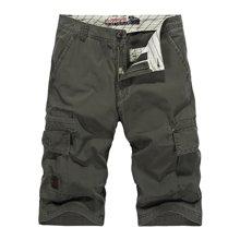 战地吉普  夏季新款休闲直筒五分短裤多口袋男士沙滩裤吉普中裤