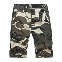 战地吉普 夏季新款军旅迷彩休闲中裤薄多口袋工装短裤五分裤