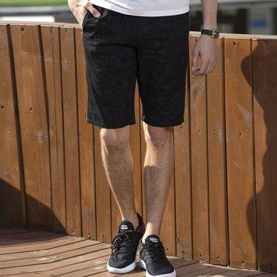 富贵鸟男装2019夏季新款百搭短裤舒适短裤休闲短裤时尚短裤FGNFNMS6027