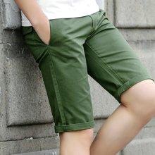 卓狼短裤男夏天休闲中裤男士短裤纯色5分五分裤马裤韩版K8023HX
