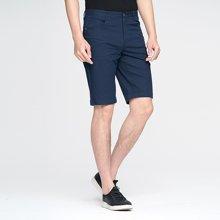 才子男装 休闲短裤18夏季新款时尚几何提花直筒裤子青年男装五分裤587306905
