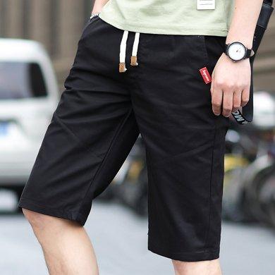 富贵鸟男装2019新款休闲短裤短裤男宽松短裤舒适短裤MLS1918