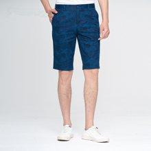 【清】才子男装 夏季新款男士休闲时尚印花韩版修身裤子短裤五分裤男 587320005