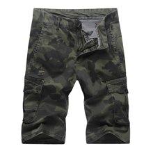 战地吉普 夏季新款迷彩宽松短裤男青年五分裤多口袋工装裤休闲裤