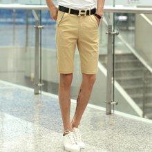 魔力怪车 夏季新款修身直筒休闲短裤男士五分裤中裤子