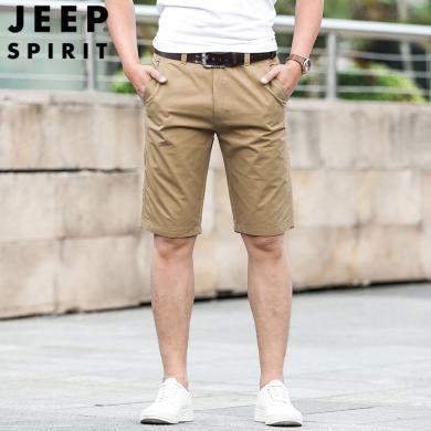 JEEP/吉普 新款夏季男士多袋短褲工裝褲棉質寬松大碼男褲休閑中褲 JPCS2595