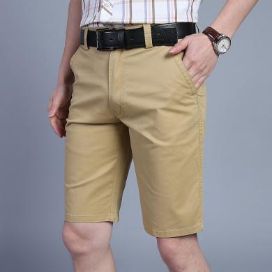 戰地吉普 男裝夏季新款經典版型男士休閑短褲時尚寬松百搭五分褲中褲男