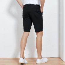 才子男装 2019夏季新款休闲短裤男弹力简约短款休闲五分裤 58193E2605