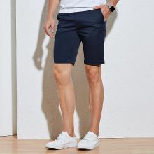 TRiES/才子男装青年短裤夏季新款商务微弹纯色直筒五分裤 58193E3705A
