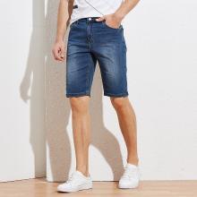 TRiES/才子男装 2019春夏季新款牛仔短裤微弹休闲牛仔五分裤 588399105